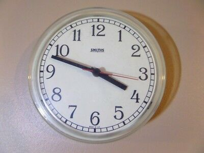Vintage Retro SMITHS Kitchen Wall Clock - Great Condition - Working & Accurate