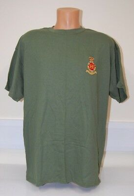 CLEARANCE: Royal Horse Artillery embroidered T-shirt - Military Green XL