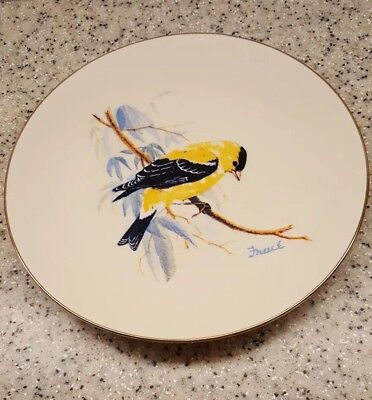 """AMERICAN GOLDFINCH Bird Collector Plate 1986 NATIONAL WILDLIFE FEDERATION 8 3/8"""""""