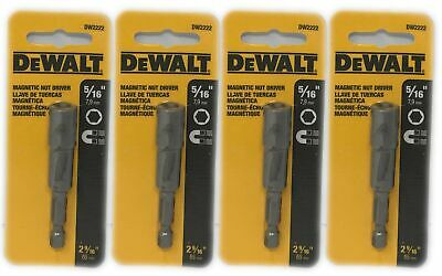 "(4-Pack) DeWALT 5/16"" Magnetic Nut Driver 2 9/16"" Total Length Silver DW2222"