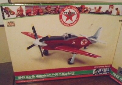 New 2018 Texaco P-51D Mustang Regular Airplane #1 In The Series, Mint In The Box
