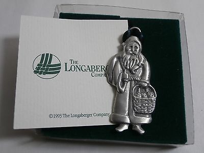 Longaberger 1990 Father Christmas Pewter Ornament