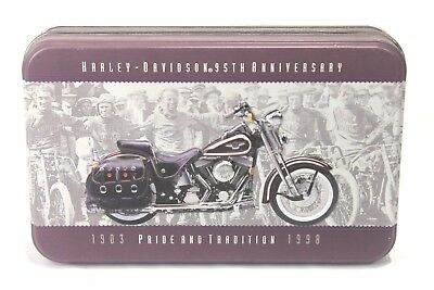 Harley Davidson 95th Anniversary Playing Card Tin With Two New Decks Included