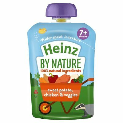 Heinz by Nature Sweet Potato Chicken And Veggies Baby Food 5 x 130g Pouches