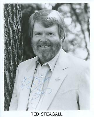 Red Steagall Autograph Songwriter Country Music Singer On Hee Haw Signed Photo