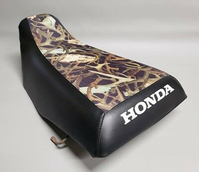 HONDA TRX300 Fourtrax Seat Cover in 2-TONE Hornz Camo & Black  or 25 COLORS (ST)
