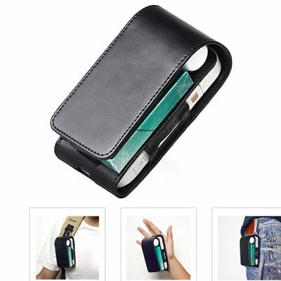 iQOS Electronic Cigarette Black Leather Pouch Bag Case Box Holder Storage