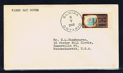 Canada #481(2) 1968 5 cent WATER CONSERVATION FDC ELMIRA ONTARIO Cancel
