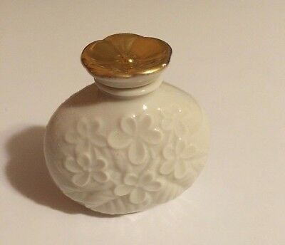 Lenox Perfume Bottle With Stopper Flower Theme Excellent