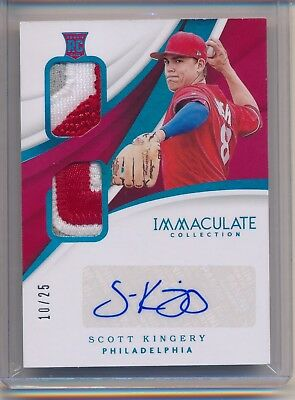 Scott Kingery Phillies Rookie RC RPA 2018 Immaculate Jersey Relic Patch Auto /25