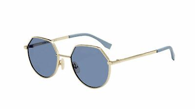 9052ee2a37fa AUTHENTIC FENDI 0136 S 0NZ2 FM Gold White Sunglasses -  309.99 ...