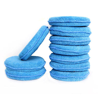 5/10PCS Blue Microfiber Wax Applicator Sponge Pad Car Wash Polish Detailing Pads