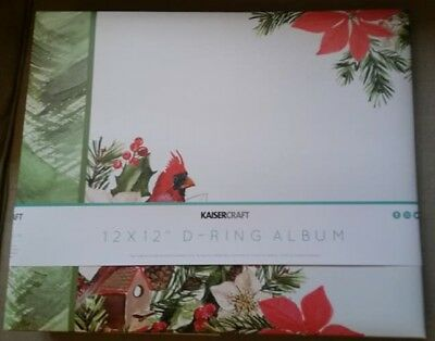 "Kaisercraft - PEACE & JOY - 12x12"" D-Ring Binder Album w/ 10 refills - Christmas"