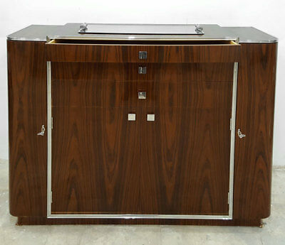 ART-DECO BAR CABINET, MAKASSAR furniert - BARSCHRANK, Bar MÖBEL elitär SIDEBOARD
