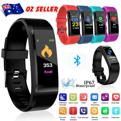 Smart Watch Fitness Activity Tracker Heart Rate Monitor Sport Bracelet Pedometer