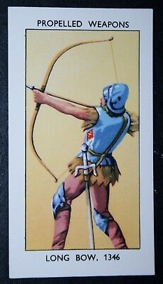 English Longbow   14th Century     Vintage  Illustrated Card