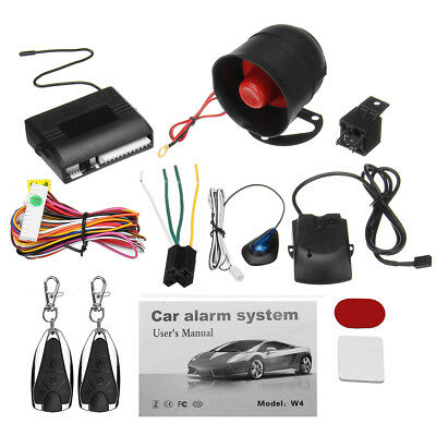Universal Car Security Alarm System Central Locking Kit 2 Remote Keyless Entry