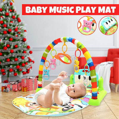 4 In 1 Baby Lullaby Playmat Kid Music Play Mat Piano Gym Floor Toy Xmas Gifts