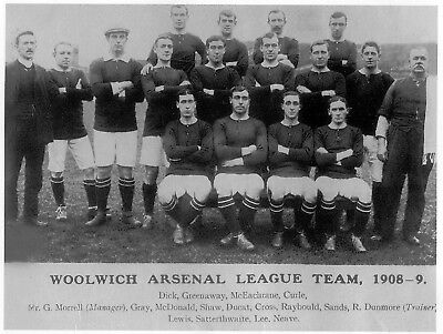 Woolwich Arsenal Football Team Photo>1908-09 Season
