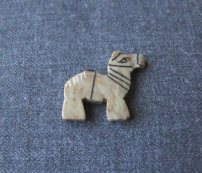 Vintage Ethnic Hand Carved & Painted In Stone Camel Miniature Figurine