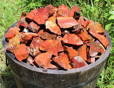1/2 lb Bulk Lot Natural Rough Red Jasper (Raw Crystal Rock Mineral Brazil 8 oz)