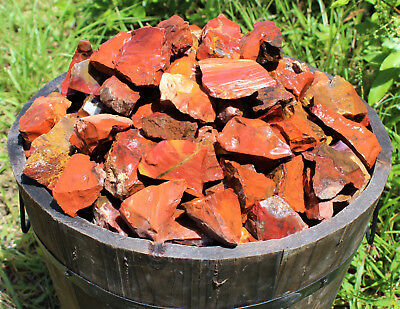 2000 Carat Lot Bulk Natural Rough Red Jasper (Raw Rock Mineral Brazil 400 Grams)