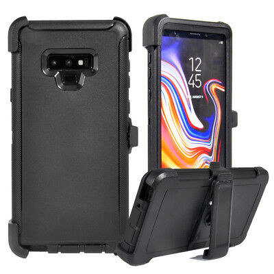 huge discount d973a bb438 FOR SAMSUNG GALAXY Note 9 Defender Case Cover, Tempered Glass, Fit Otterbox  Clip