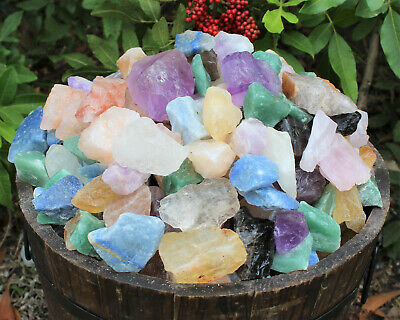 500 Carat Lot Natural Rough Mixed QUARTZ (Amethyst Citrine Clear Smokey Rose)