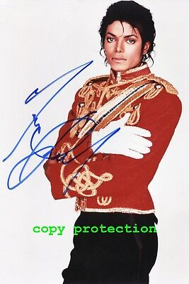 1881 Michael Jackson, Autogramm Foto, King of Pop, Thriller