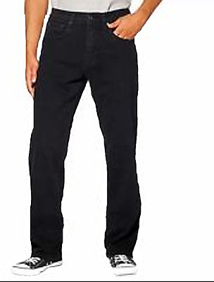 Urban Star Men's Relaxed Fit Straight Leg Jeans Black