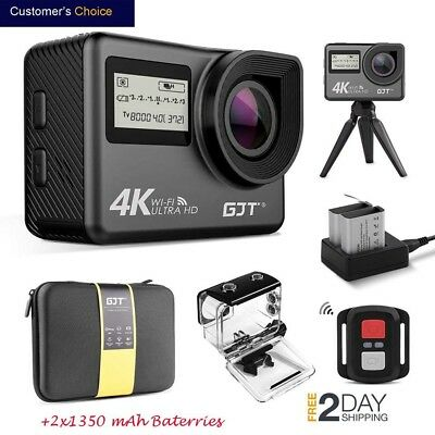 GJT GC1 4K WiFi Touchscreen Action Camera 1080P HD 30M Waterproof Remote Control