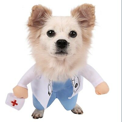 Doctor Dog Costume Halloween Pet Apparel for Small and Medium Sized Dogs