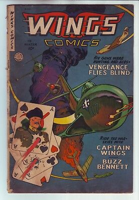 1948 Fiction House Magazines Wings Comics #118 In Gd/vg Condition
