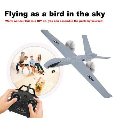 Z51 2.4G 2CH Remote Control RC Airplane Glider Drone DIY Kit For Kids Gifts H0H8