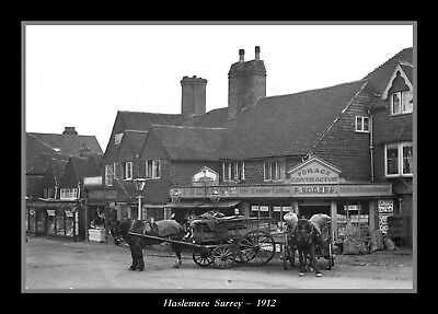 Collectors/Photograph/Print/7 x 5 Photo/Haslemere/Surrey/1912/Shop/Horse/Cart