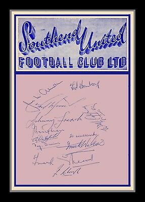 Collectors/Photograph/Print/Photo/Southend United/1952/1953/Team Autographs