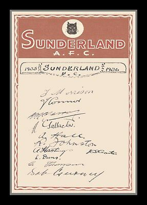 Collectors/Photograph/Print/Photo/Sunderland/1935/1936/Team Autographs