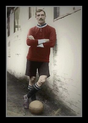 Photograph/Print/Manchester United/Wales/Billy Meredith/1906-1921