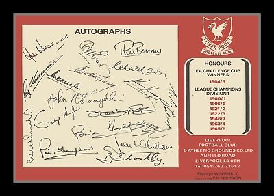 Collectors/Photograph/Print/Photo/Liverpool FC/Team/Autographs/Early 1970's