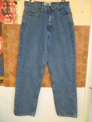 Vintage 1990s American High Waist Tapered Mom Jeans by Old Mill fleece lined 31w