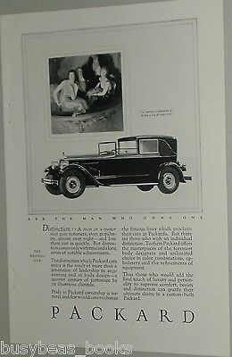 1926 PACKARD advertisement, Packard coupe chauffeur, big antique auto