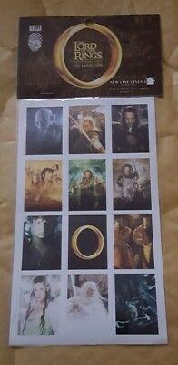 The Lord Of The Rings - Sticker Sheet - Te Papa Museum 2006 (Sealed)