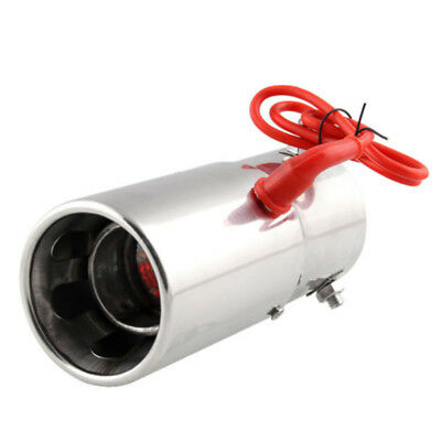 70mm Exhaust Pipe Muffler Tip Car Auto Universal with Red LED Light Flaming