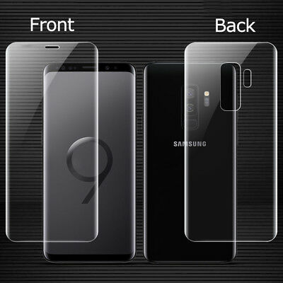 For Samsung Galaxy S9 P Front+Back Clear TPU Case Screen Protector Real Cover/JX