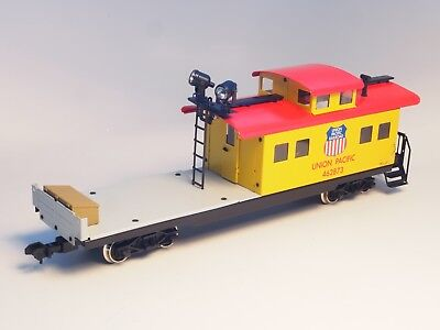 Marklin Scale 1 Old Era Union Pacific Caboose Car in METAL working SEARCH LIGHT