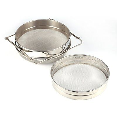 Honey Sieve, Stainless Steel Double Honey Strainer Filter Apiary Beekeeping Equi