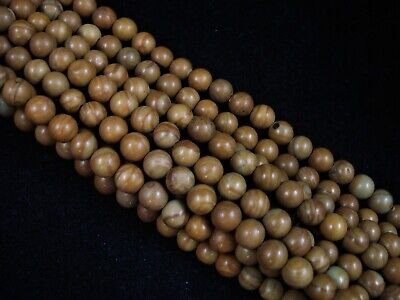 Gemstone Beads Gold Lace Agate 6mm Round Beads 35cm Strand FREE POSTAGE