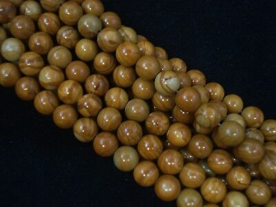 Gemstone Beads Gold Lace Agate 8mm Round Beads 35cm Strand FREE POSTAGE