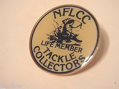 Vintage NFLCC Life Member Fishing Lure Pin / Button 7/8 ""