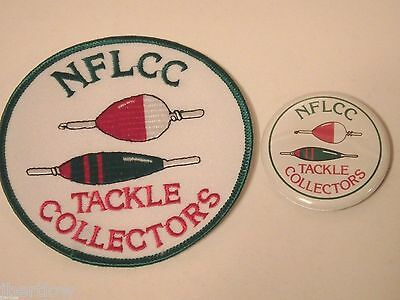 Vintage NFLCC Fishing Lures Old Bobbers Patch & Pin / Button